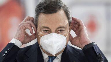 Ο Ιταλός πρωθυπουργός Mario Draghi © EPA