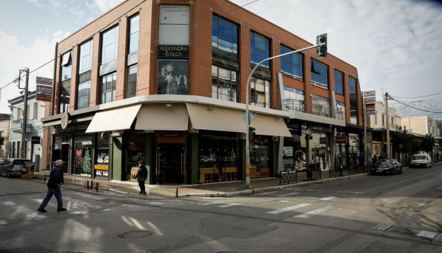 Κλειστό κατάστημα στην Ελευσίνα © Eurokinissi