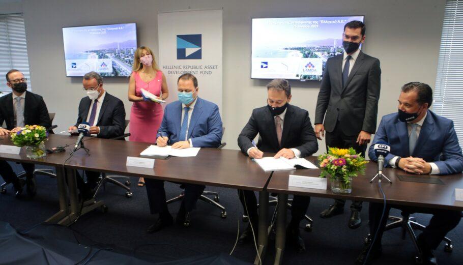 Υπογράφηκε η μετβίβαση της Ελληνικόν ΑΕ στη Lamda © ΑΠΕ-ΜΠΕ/ΠΑΝΤΕΛΗΣ ΣΑΪΤΑΣ