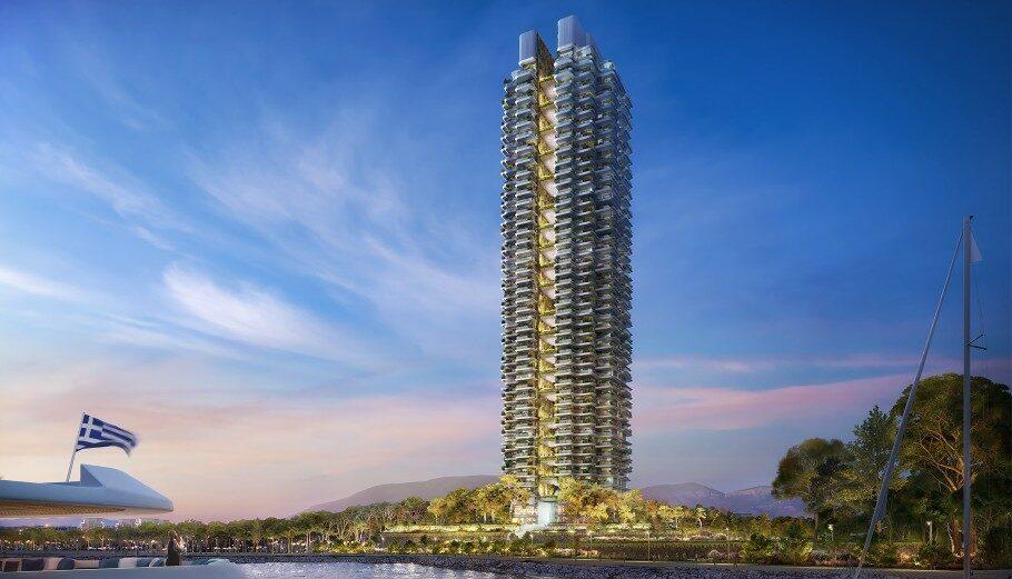 Μακέτα του Marina Tower στο Ελληνικό © Lamda Development