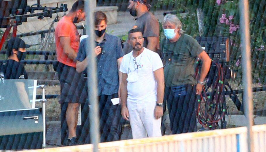 Ο Αντόνιο Μπαντέρας στη Θεσσαλονίκη κατά τη διάρκεια γυρισμάτων © MOTIONTEAM / EUROKINISSI