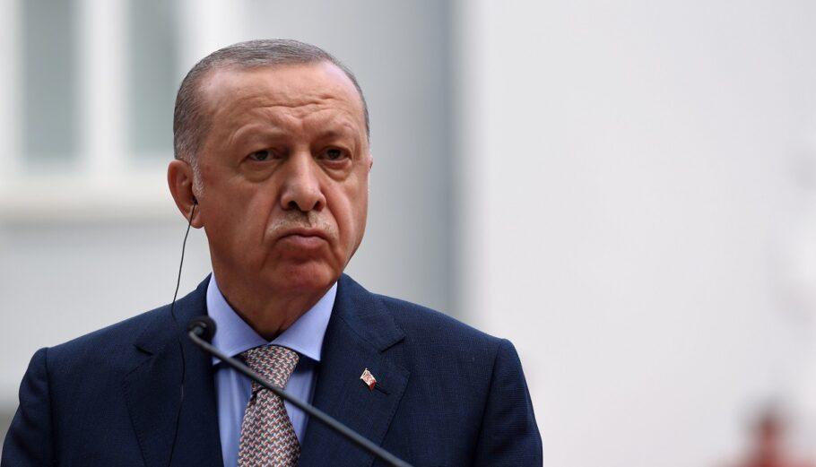 Ο πρόεδρος της Τουρκίας, Ρετζέπ Ταγίπ Ερντογάν ©EPA/BORIS PEJOVIC