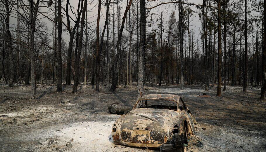 Πυρκαγιά στη Βαρυμπόμπη ©EUROKINISSI