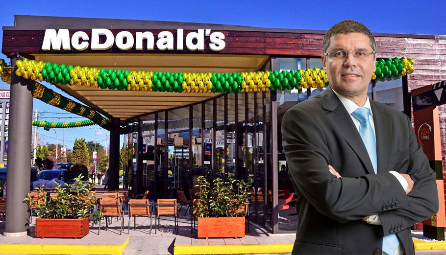 Victor Tedesco, CEO της Premier Capital plc, Developmental Licencee της McDonald's για την Ελλάδα και άλλες 5 χώρες © facebook.com/mcdonalds.restaurants.gr / powwergame.gr