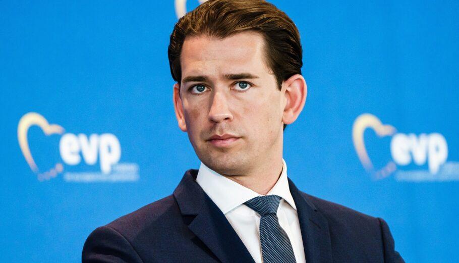 Ο Αυστριακός καγκελάριος Σεμπάστιαν Κουρτς ©EPA/CLEMENS BILAN